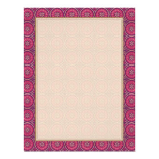 Fun Geometric Floral in Pink and Purple Full Color Flyer