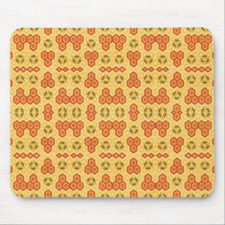 Fun Geometric Orange and Yellow Mousepads