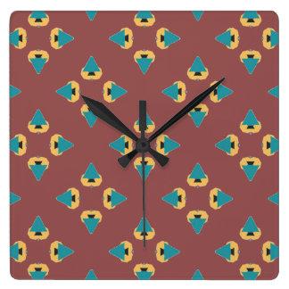 Fun geometric tree design wall clocks