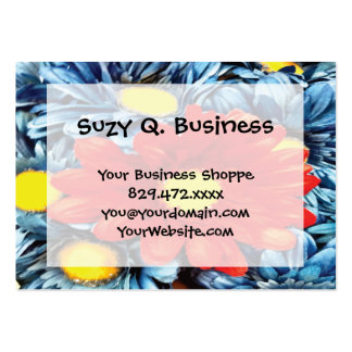Fun Gerber Daisy Blue Orange Daisies Flower Business Cards