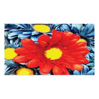 Fun Gerber Daisy Blue Orange Daisies Flower Pack Of Standard Business Cards
