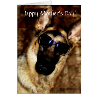 Fun German Shepherd Mother's Day Card