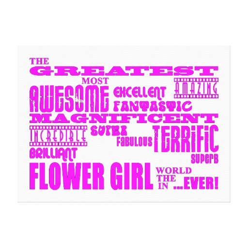 Fun Gifts for Flower Girls : Greatest Flower Girl Gallery Wrapped Canvas