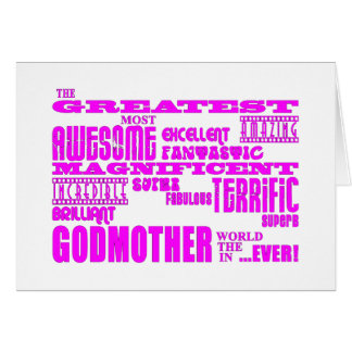 Fun Gifts for Godmothers : Greatest Godmother Greeting Card