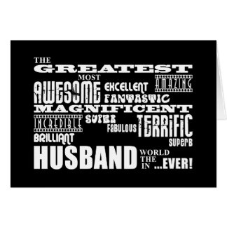 Fun Gifts for Husbands Greatest Husband Card