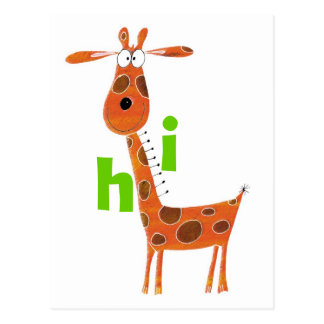 Fun Giraffe Postcard