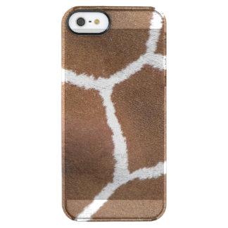 Fun Giraffe Print Clear iPhone SE/5/5s Case
