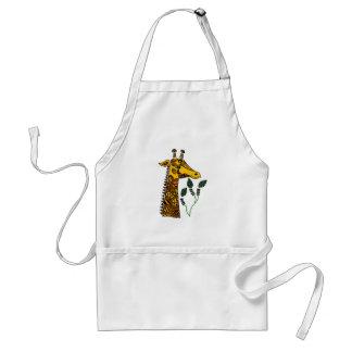 Fun Giraffe with Patterns Abstract Art Standard Apron