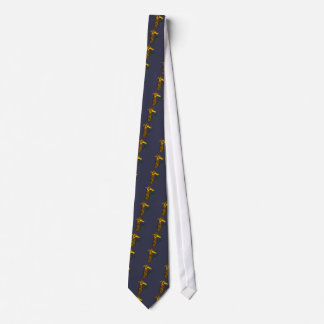 Fun Giraffe with Patterns Abstract Art Tie