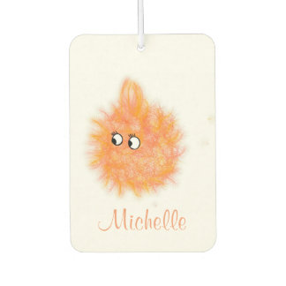 Fun Girly Orange Fluffy Cute Cartoon