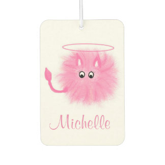 Fun Girly Pink Fluffy Cute Cartoon Saint or Sinner