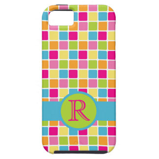 Fun Girly POP Candy Colours with Monogram iPhone 5 Cases