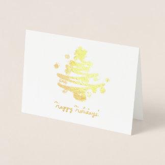 Fun gold foil Christmas tree Foil Card