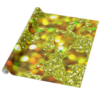 Fun golden wrapping paper