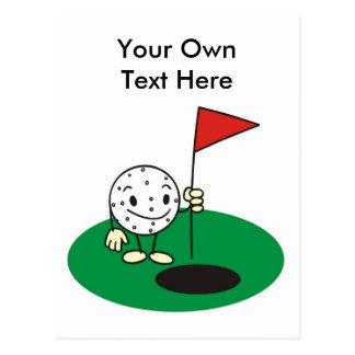 golf fun postcards. Black Bedroom Furniture Sets. Home Design Ideas