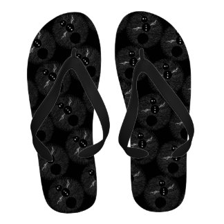 Fun Goth Cartoon Snowman Winter Men s Beach Shoe Sandals