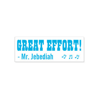 "Fun ""GREAT EFFORT!"" Acknowledgement Rubber Stamp"