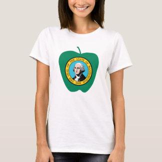 Fun Green Apple Washington State Flag T-Shirt