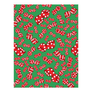 Fun green dice pattern 21.5 cm x 28 cm flyer