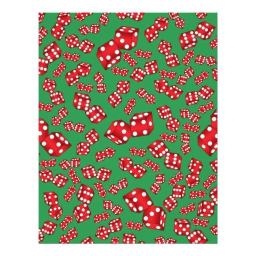 Fun green dice pattern flyer