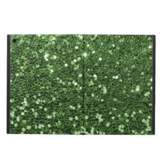 Fun Green Faux Glitter Print
