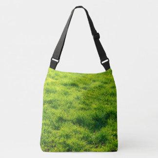 Fun Green Grass Print Cross-Body Bag
