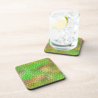 Fun Green Mosaic Design Coasters