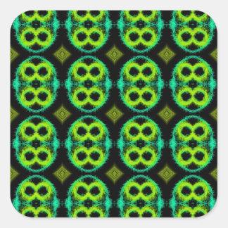 Fun Green Plaid Square Sticker
