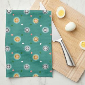 Fun Green Polka Dots Tea Towel