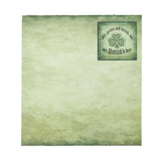 Fun grundge Irish lucky shamrock Notepad