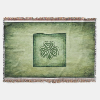 Fun grundge Irish lucky shamrock Throw Blanket