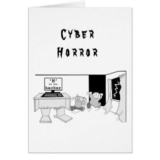 Fun 'H' is for Hacker 'Cyber Horror' Card