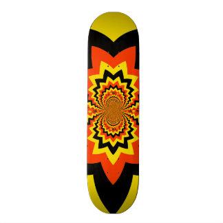 Fun Halloween Kaleidoscope Pattern Black Orange Skate Boards
