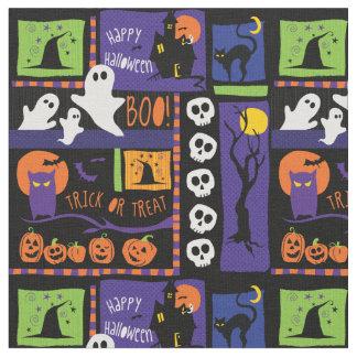 Fun Halloween Patch Print Fabric