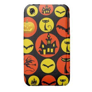 Fun Halloween Polka Dot Pattern Haunted House iPhone 3 Cover