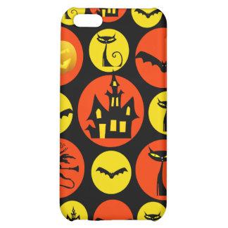 Fun Halloween Polka Dot Pattern Haunted House iPhone 5C Case