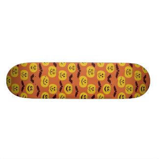 Fun Halloween Pumpkin Bat Design Skate Boards