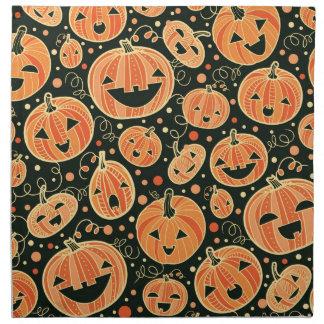Fun Halloween Pumpkins Pattern Napkin