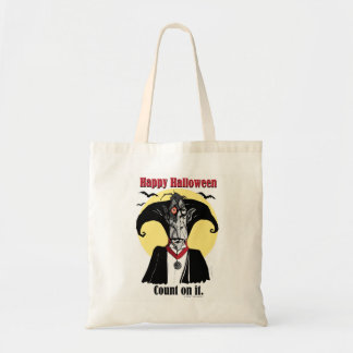 Fun, halloween tote bag, Count Dracula cartoon