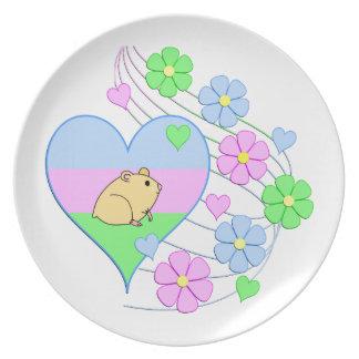 Fun Hamster Heart Plate