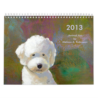 Fun happy art cute animal paintings 2013 calendars