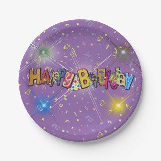 Fun Happy Birthday Confetti Paper Plate