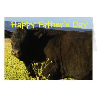 Fun Happy Father's Day Ranch Farm Cattle Bulls Card