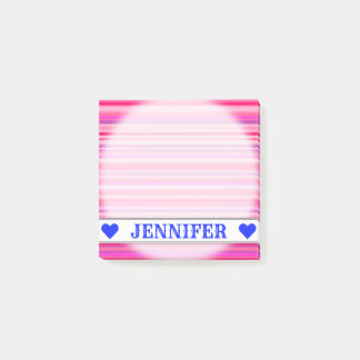 Fun, Happy, Girly Pink and Purple Stripes Pattern Post-it Notes