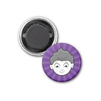 Fun Happy Or Mad Two Faces in One 3 Cm Round Magnet
