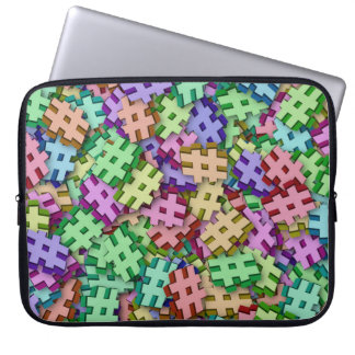 Fun Hashtags Laptop Sleeve