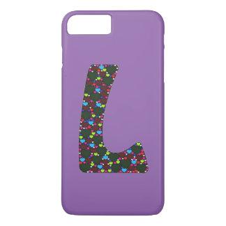 """Fun Hearts Monogram """"L""""  iPhone 7/6 Plus case"""