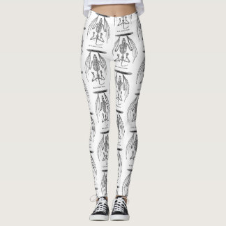 Fun Hipster Leggings with illustrated bat skeleton