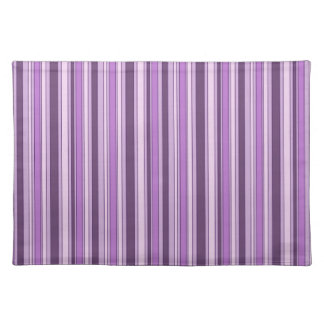 Fun Hipster Stripes Pattern in Shades of Purple Placemat