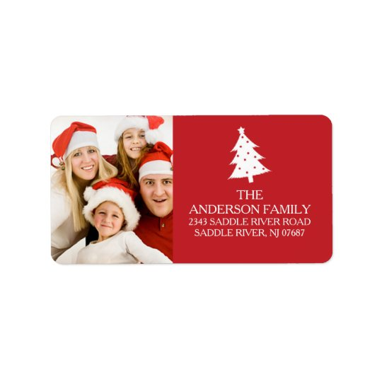 Fun Holiday PHOTO Return Address Label